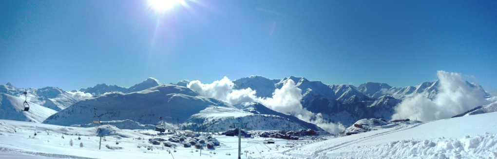 wintersport franse alpen